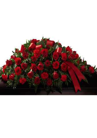 Red Tribute Casket Spray