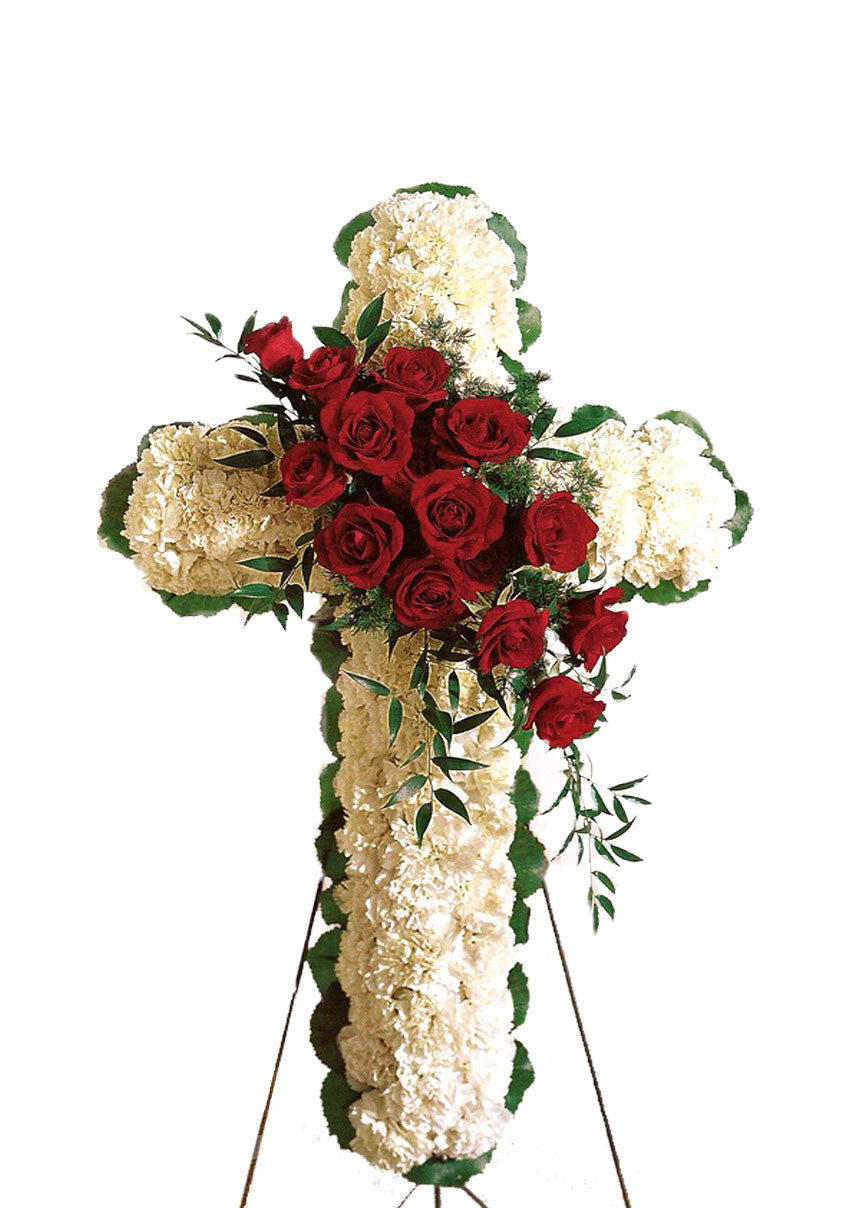 Cross With Rose Break