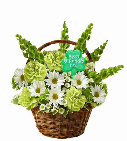 St Patrick's Day Basket Arrangement