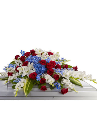 Red White & Blue Casket Spray