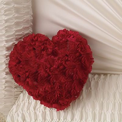 Small Red Rose Heart Pillow