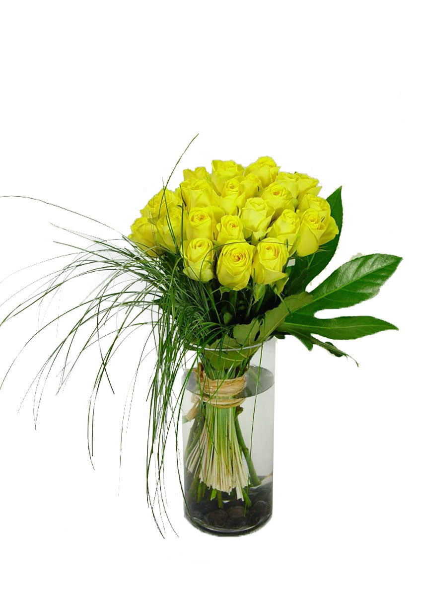two dozen yellow roses modern design