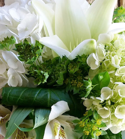 Whites Creams and Greens - Designer's Choice Arrangement