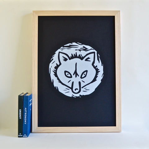 Snow Fox Screen Print