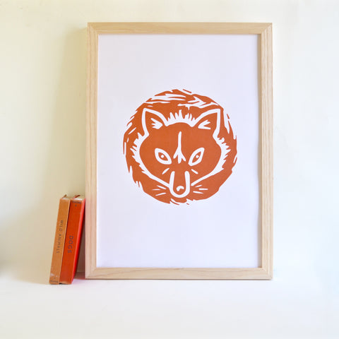 Copper Fox Screen Print
