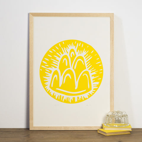 Yellow Jelly Print