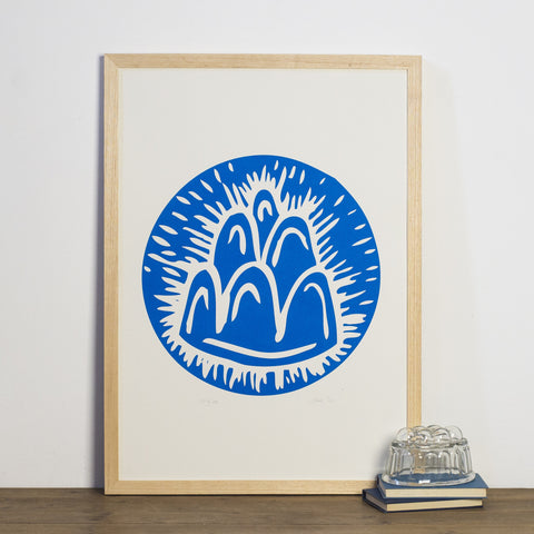 blue jelly screen print