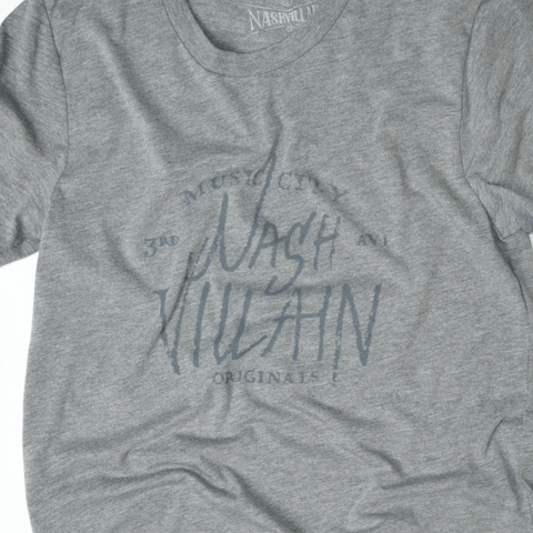 Music City Gray Print Tee