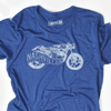 Motorcycle blue tee for Nashvillain Clothing Company in Nashville, Tennessee
