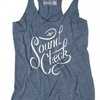 Sound check graphic tank top design