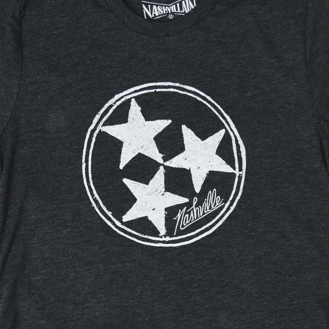 Inverse Tennesse Tristar Shirt design for a black unisex tee