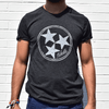 Inverse Tristar tee with model for Nashvillain Clothing Company in Nashville, Tennessee