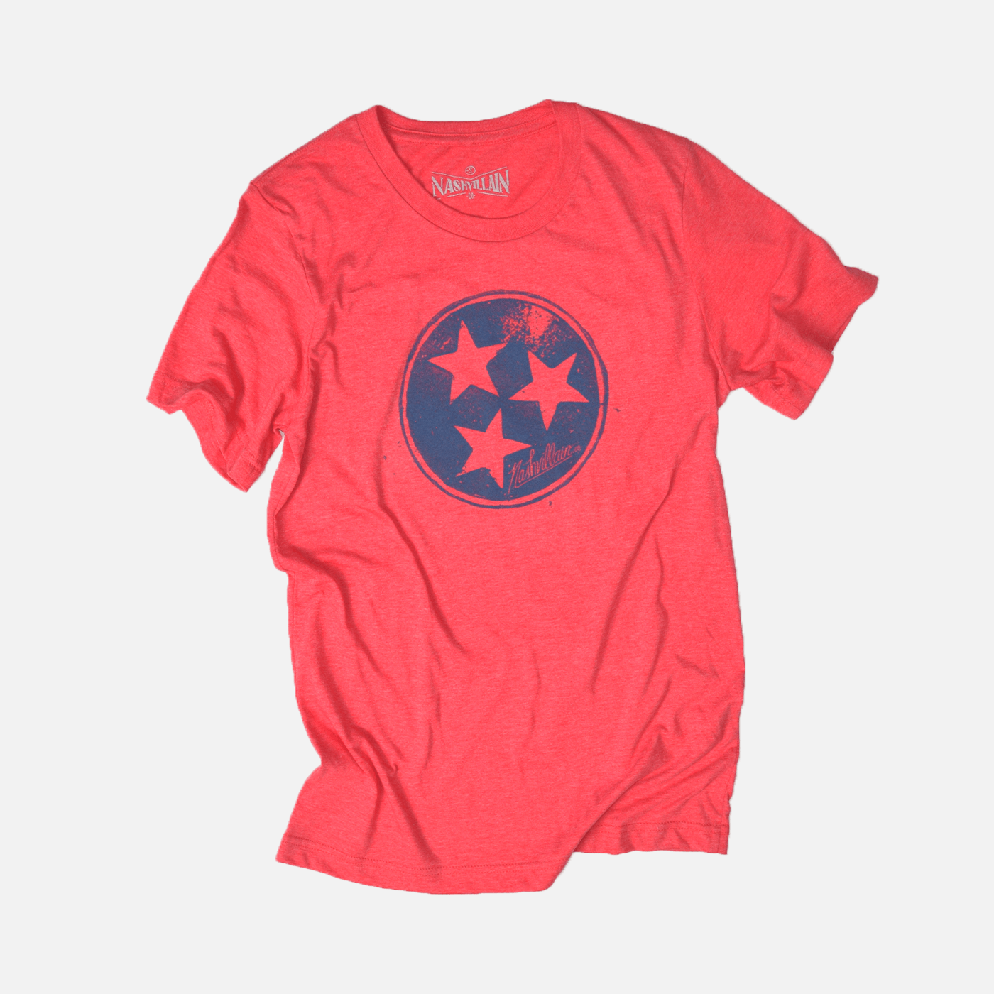 Tristar red tee for Nashvillain Clothing Company in Nashville, Tennessee