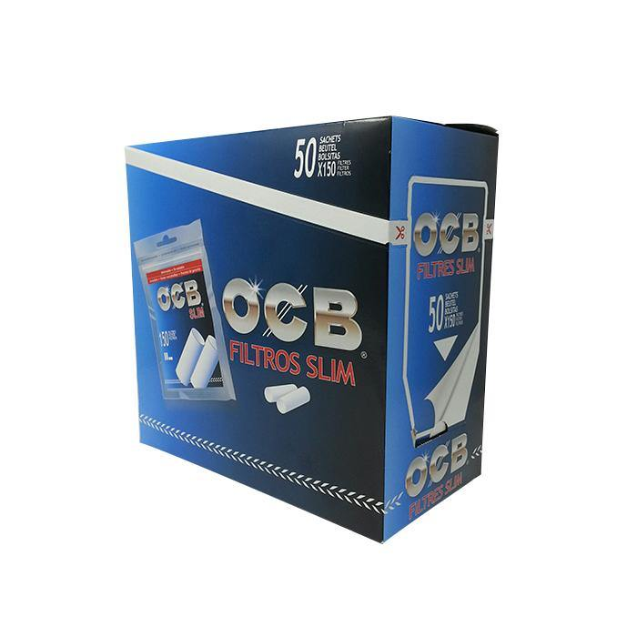 OCB Slim Filter Tips - Box of 50 Packs - Papers - budders-cannabis - Budders Cannabis