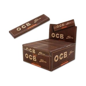 OCB Brown Unbleacked Slim King Size - Box of 50 Packs - Papers - budders-cannabis - Budders Cannabis