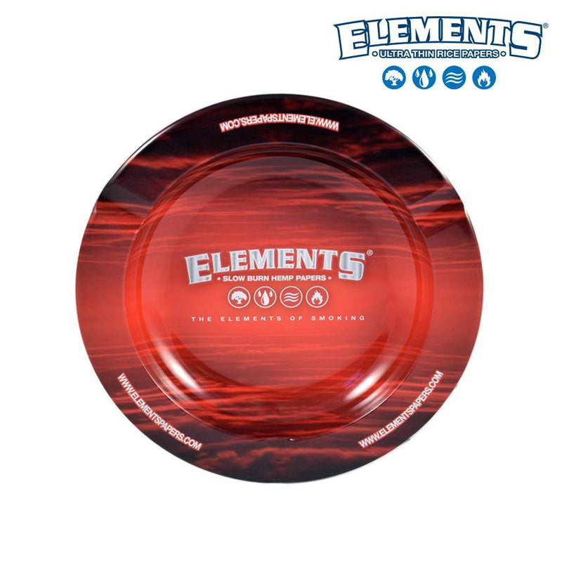 Ashtray Elements Metal Red