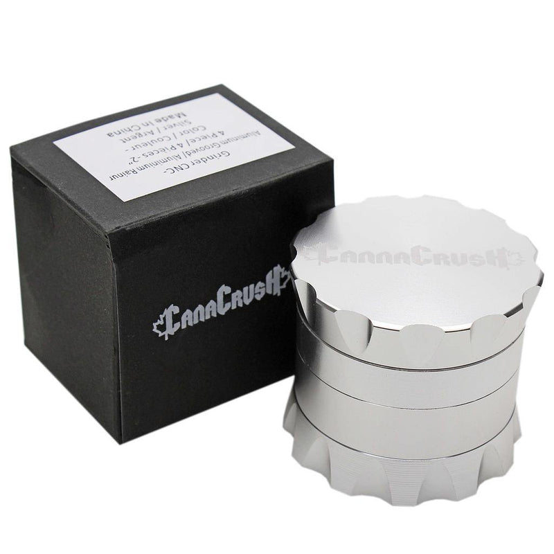 "CANACRUSH GROOVED 2"" 4-PIECE GRINDER - Budders Cannabis"