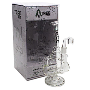"Tree Glass 11"" Inline Cakecycler with Banger Glass Rig"