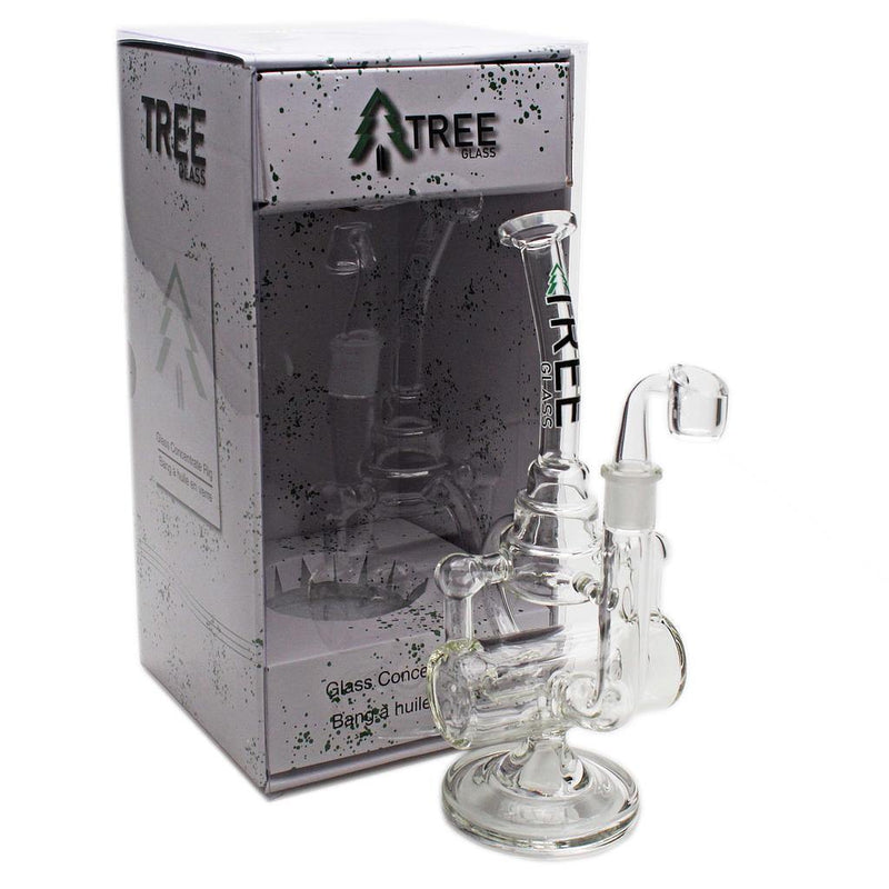"Tree Glass 11"" Inline Cakecycler with Banger Glass Rig - Budders Cannabis"