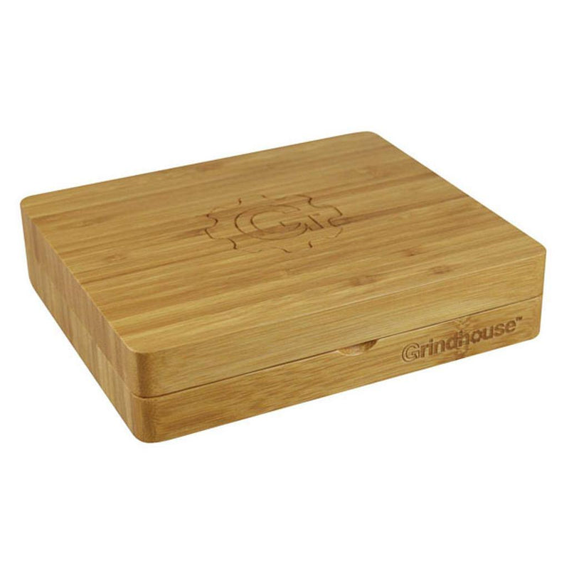 Grindhouse 2-piece Bamboo Rolling Tray with Storage - Budders Cannabis