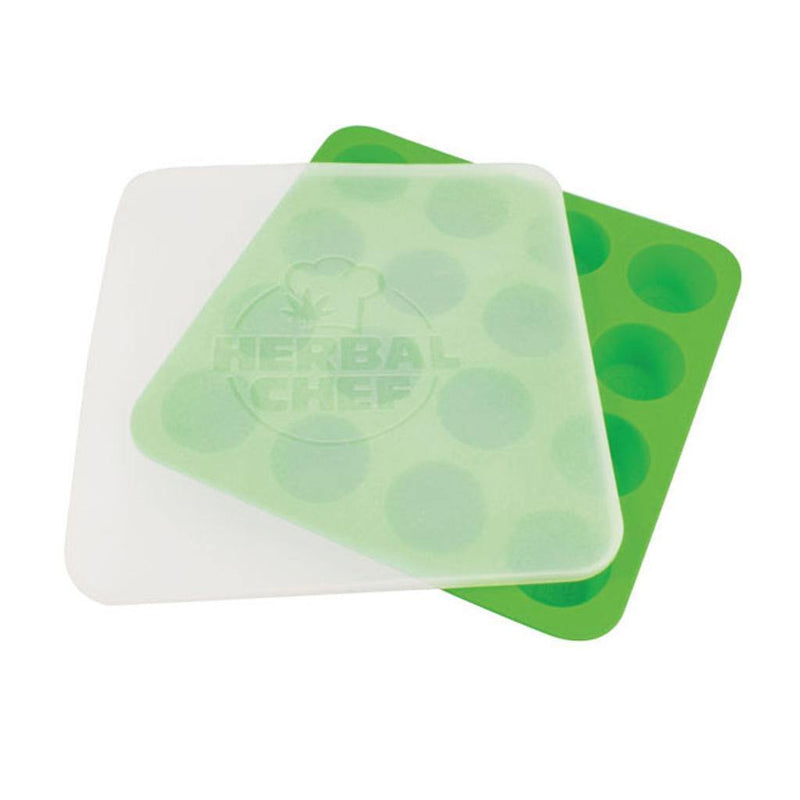 HERBAL CHEF SILICONE TRAY W/ LID - GREEN EGGS - Budders Cannabis