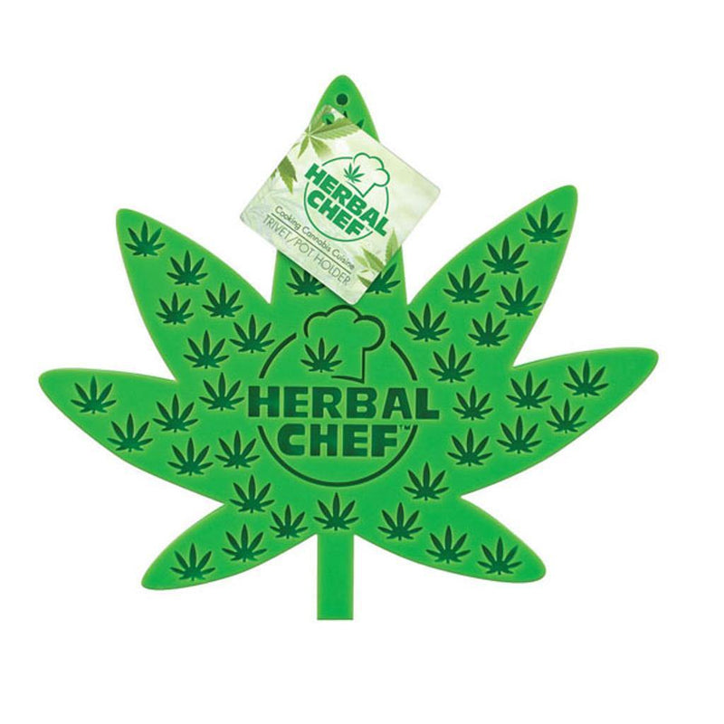 HERBAL CHEF SILICONE TRIVET/ POT HOLDER - Budders Cannabis