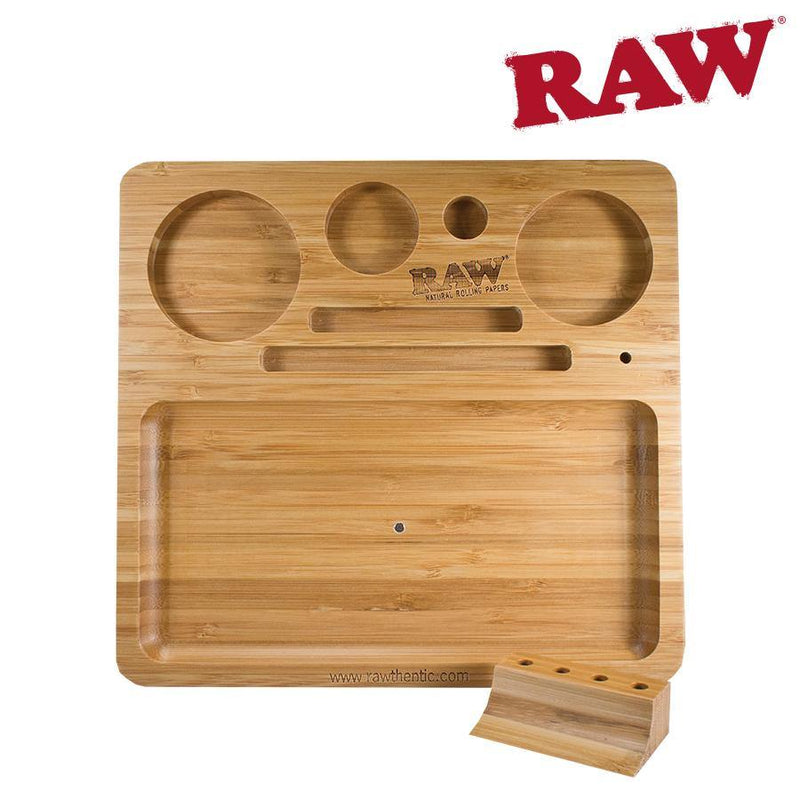 Rolling Tray Raw Natural Bamboo