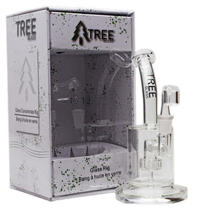 "Tree Glass 6"" Circ Perc with Banger Glass Concentrate Rig"