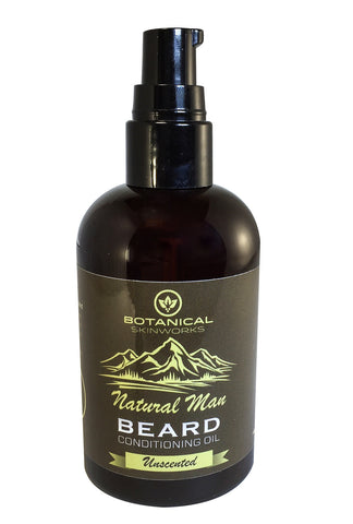 Natural Man Beard Oil 4oz All Natural Unscented (No Added Fragrance) Beard Conditioner