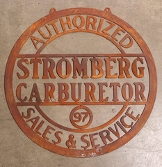 "Signs–Stromberg Sales & Service 20"" Rusty Sign"