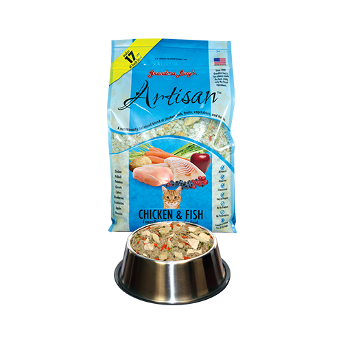 Grandma Lucy's Artisan Chicken & Fish Freeze-Dried Cat Food