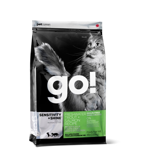 GO! SENSITIVITY + SHINE Grain-Free Fresh Water Trout and Salmon Dry Cat Food