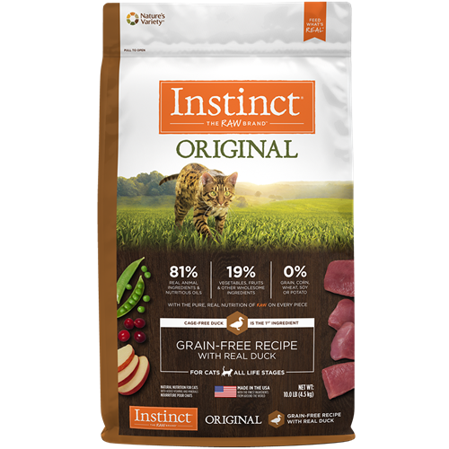 Nature's Variety Instinct Original Grain-Free Recipe with Real Duck Dry Cat Food