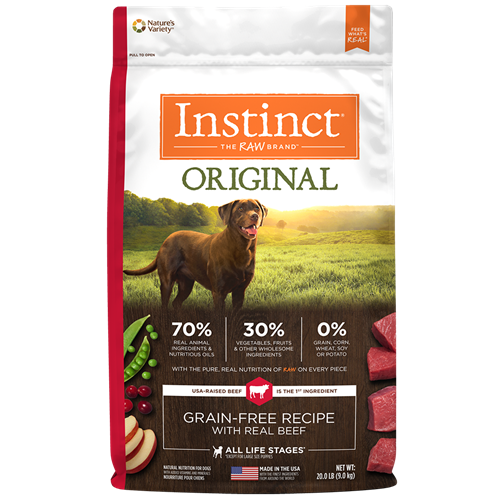 Nature's Variety Instinct Original Grain-Free Recipe with Real Beef Dry Dog Food