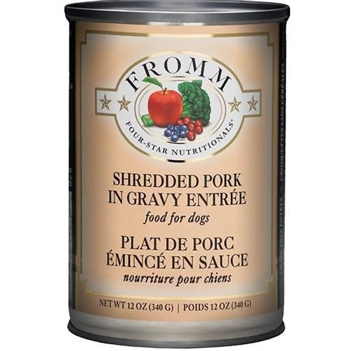 Fromm Four-Star Nutritionals Shredded Pork Entree Canned Dog Food