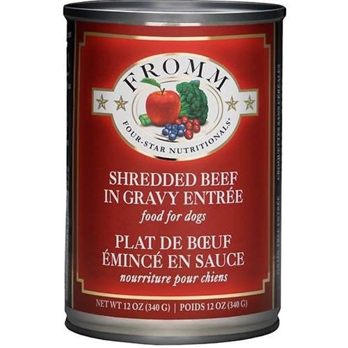 Fromm Four-Star Nutritionals Shredded Beef Entree Canned Dog Food