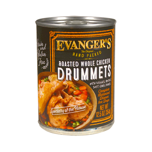 Evanger's Hand-Packed Super Premium Roasted Chicken Drummette Dinner Canned Dog Food