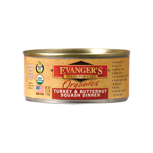 Evanger's Organic Turkey & Butternut Squash Dinner Canned Cat Food