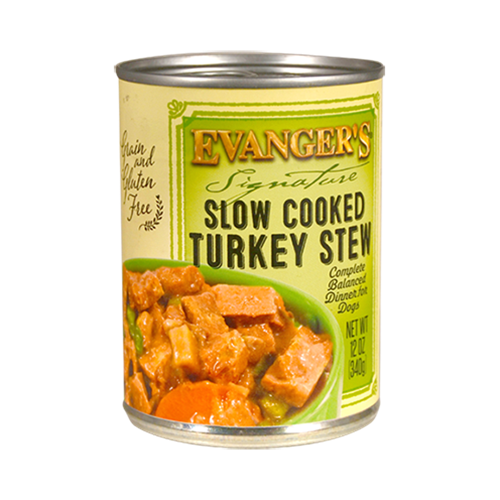 Evanger's Signature Series Grain-Free Slow Cooked Turkey Stew Canned Dog Food
