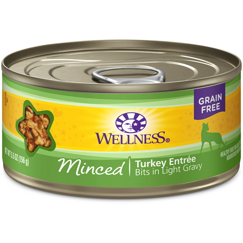 Wellness Grain-Free Minced Turkey Entree Canned Cat Food