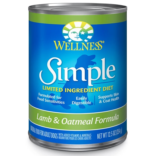 Wellness Simple Limited Ingredient Diet Lamb and Oatmeal Canned Dog Formula