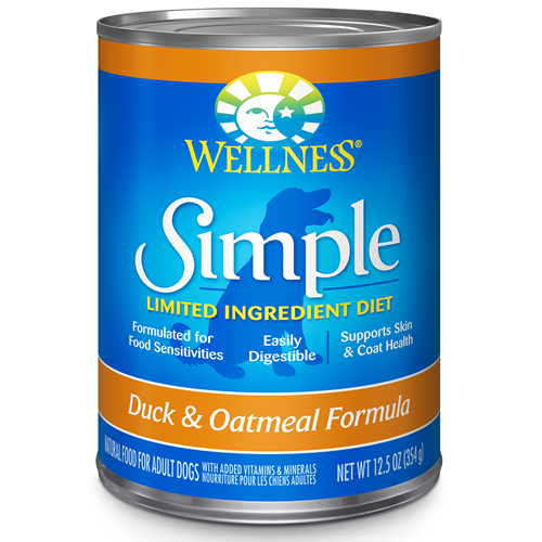 Wellness Simple Limited Ingredient Diet Duck and Oatmeal Canned Dog Formula