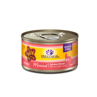 Wellness Grain Free Minced Salmon Dinner Canned Cat Food