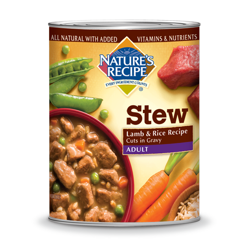 Nature's Recipe Canned Adult Lamb and Rice Recipe Cuts in Gravy