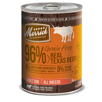 Merrick Grain Free 96% Real Texas Beef Canned Dog Food
