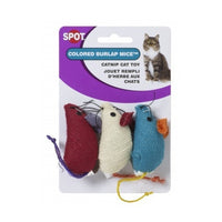 Ethical Pets Colored Burlap Mice Cat Toys