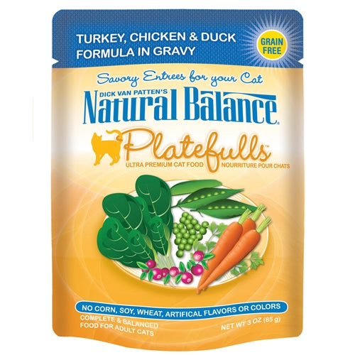 Natural Balance Platefulls Turkey, Chicken and Duck Cat Pouches