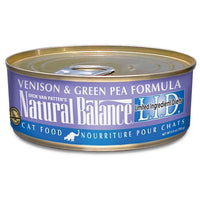 Natural Balance L.I.D. Grain Free Venison and Green Pea Canned Cat Food