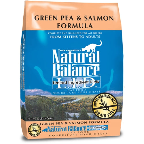 Natural Balance L.I.D. Grain Free Green Pea and Salmon Dry Cat Food