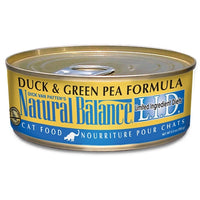 Natural Balance L.I.D. Grain Free Duck and Green Pea Canned Cat Food